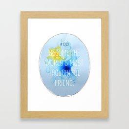 Thoughtful Friend Framed Art Print