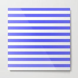 Stripes (Blue & White Pattern) Metal Print