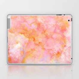 Rosé and Sunny Marble - pink, coral and orange Laptop & iPad Skin