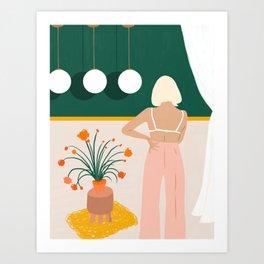 Texting #painting #illustration Art Print