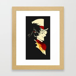 Jekyll and Hyde Silhouettes Framed Art Print