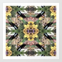 Wildlife Kaleidoscope Art Print