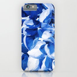 Botanic leafage - cobalt iPhone Case