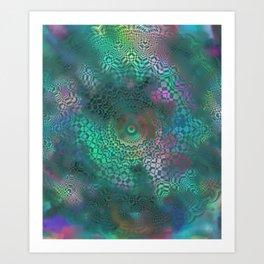 Love of Life Mandala Green Art Print
