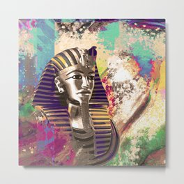 King Tut  Mask Abstract composition Metal Print