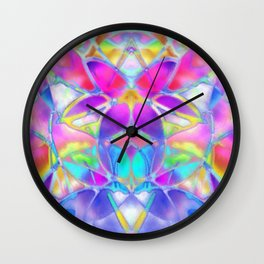 Floral Fractal Art G307 Wall Clock