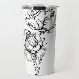 Dotwork Roses Travel Mug