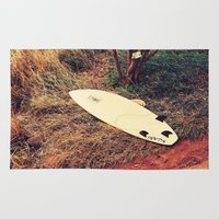 surfboard Area & Throw Rugs featuring surfboard- Maui by Eoxe