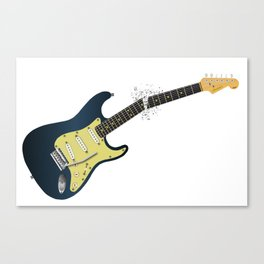 Clean Guitar Neck Break Canvas Print