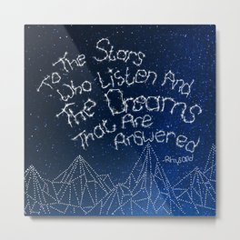 "ACOMAF — ""To The Stars Who Listen And The Dreams That Are Answered"" Metal Print"