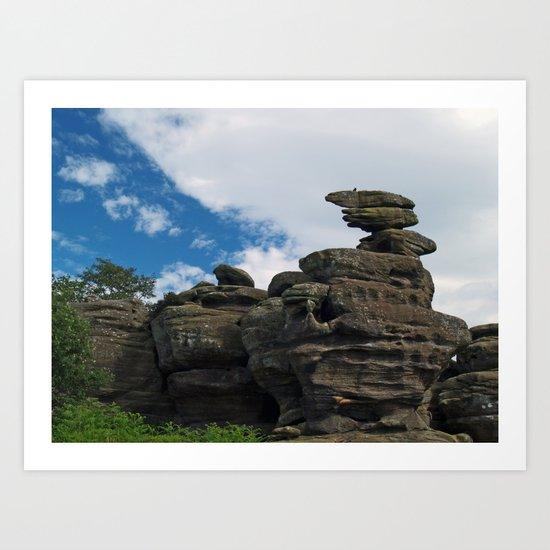 Brimham Rocks 2 Art Print