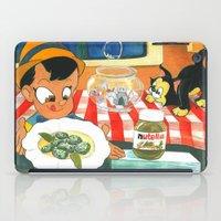 nutella iPad Cases featuring Pinocchio by Miz2017