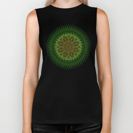 Earth Flower Mandala Biker Tank