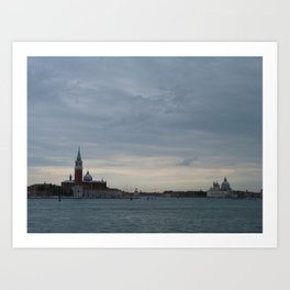 Venice laguna at sundown Art Print