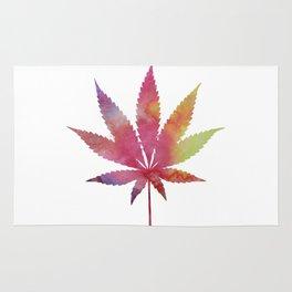 Cannabis leaf Rug