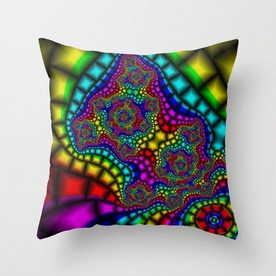 Colour Adour Throw Pillow