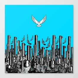 Peace of the Action BLUE / Peace concept Canvas Print
