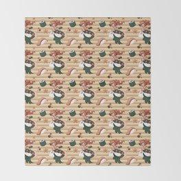 Mermaid Sushi Throw Blanket