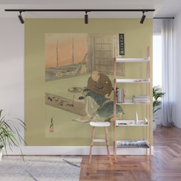 A professional writing man and an audience Wall Mural