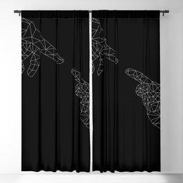 Michelangelo Reloaded (in black) Blackout Curtain