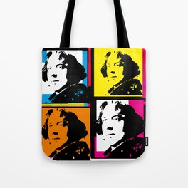 OSCAR WILDE (4-UP POP ART COLLAGE) Tote Bag