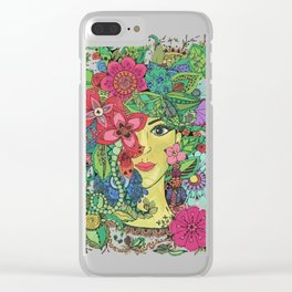 Mina beautiful mandala Clear iPhone Case