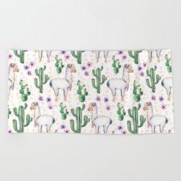 Llama Llamarama + Cactus Beach Towel