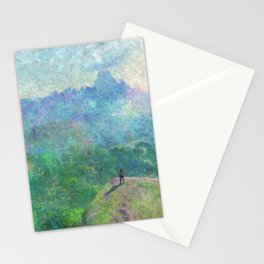 Legend of Zelda Breath of the Wild Intro Impressionist Painting Stationery Cards