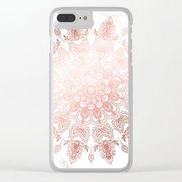 Dancing Mandala Rose Gold Clear iPhone Case