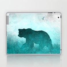 Teal Ghost Bear Laptop & iPad Skin