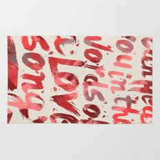words of a love song Rug