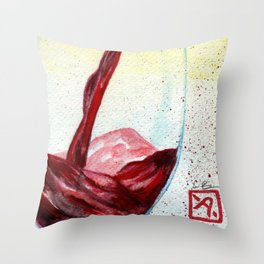 Wine Pouring Throw Pillow