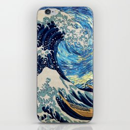 Starry (Great Wave) Night iPhone Skin