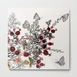 Watercolor floral background Metal Print