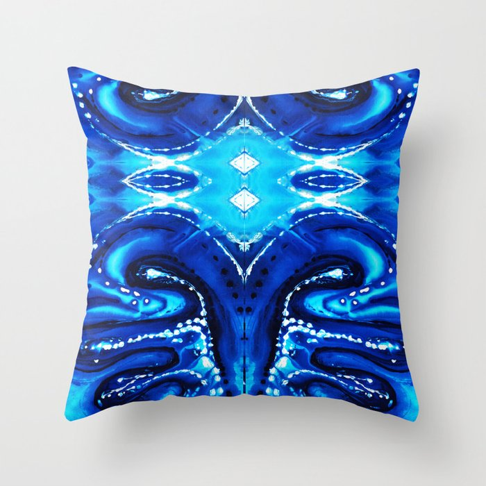 Big Blue Throw Pillows : Blue Abstract Art - Big Blue - By Sharon Cummings Throw Pillow by sharoncummings Society6