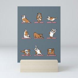 English Bulldog Yoga Mini Art Print