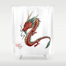 Dragon pure Shower Curtain