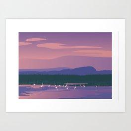 Camargue flamingo Art Print