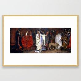 Edwin Austin Abbey King Lear, Act I, Scene I Framed Art Print