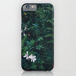 Fleurs Vertes iPhone Case