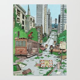 Post Apocalyptic San Francisco Poster