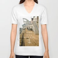 voyage V-neck T-shirts featuring Voyage by H0D63