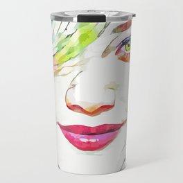 Hilary Duff (Creative Illustration Art) Travel Mug