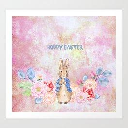 Hoppy The Bunny 3-Hoppy Easter Art Print