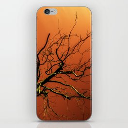 Red Branches of Crimson Dream Surreal Tree Art iPhone Skin
