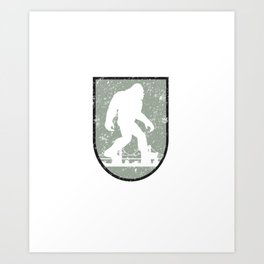 Bigfoot Research Team Boston Hide and Seek Art Art Print