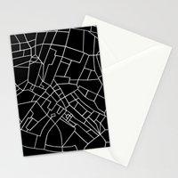 London Road Blocks Black Stationery Cards