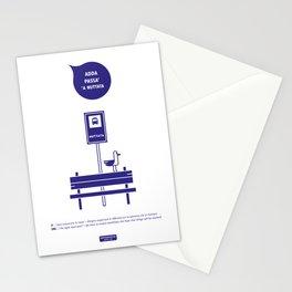 Adda passa' 'a nuttata Stationery Cards