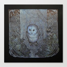 The Eyes of the Forest (Black) Canvas Print