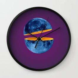 Moon orange slice Wall Clock